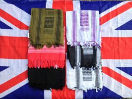 *NEW*AND GRADE1 MILITARY/ARMYSHEMAGH COTTON SCARF VARIOUS COLOURS